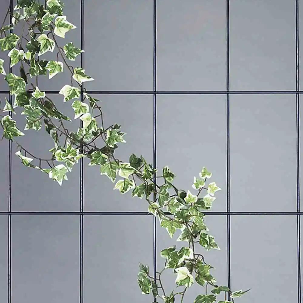 Wandspalier 3-strebig weiß, Maße: 150x45cm