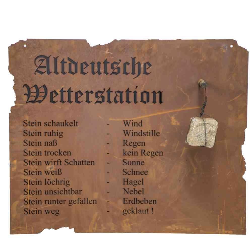 Altdeutsche Wetterstation zum Hängen