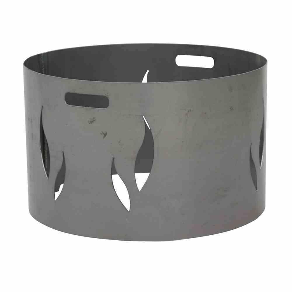 Feuerschalenaufsatz, Stahl silber/anthrazit, passend zu der Feuerschale XXL