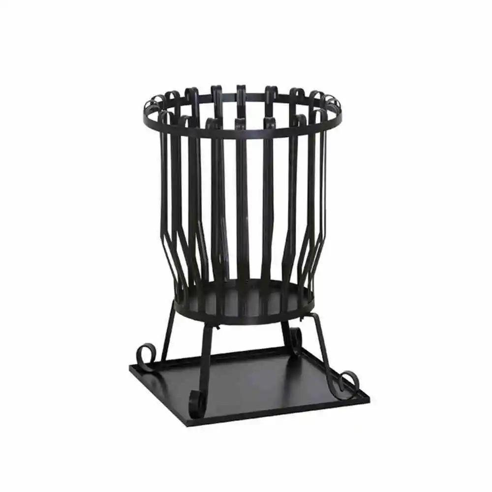 Feuerkorb Druma, Stahl schwarz, inklusive Bodenplatte