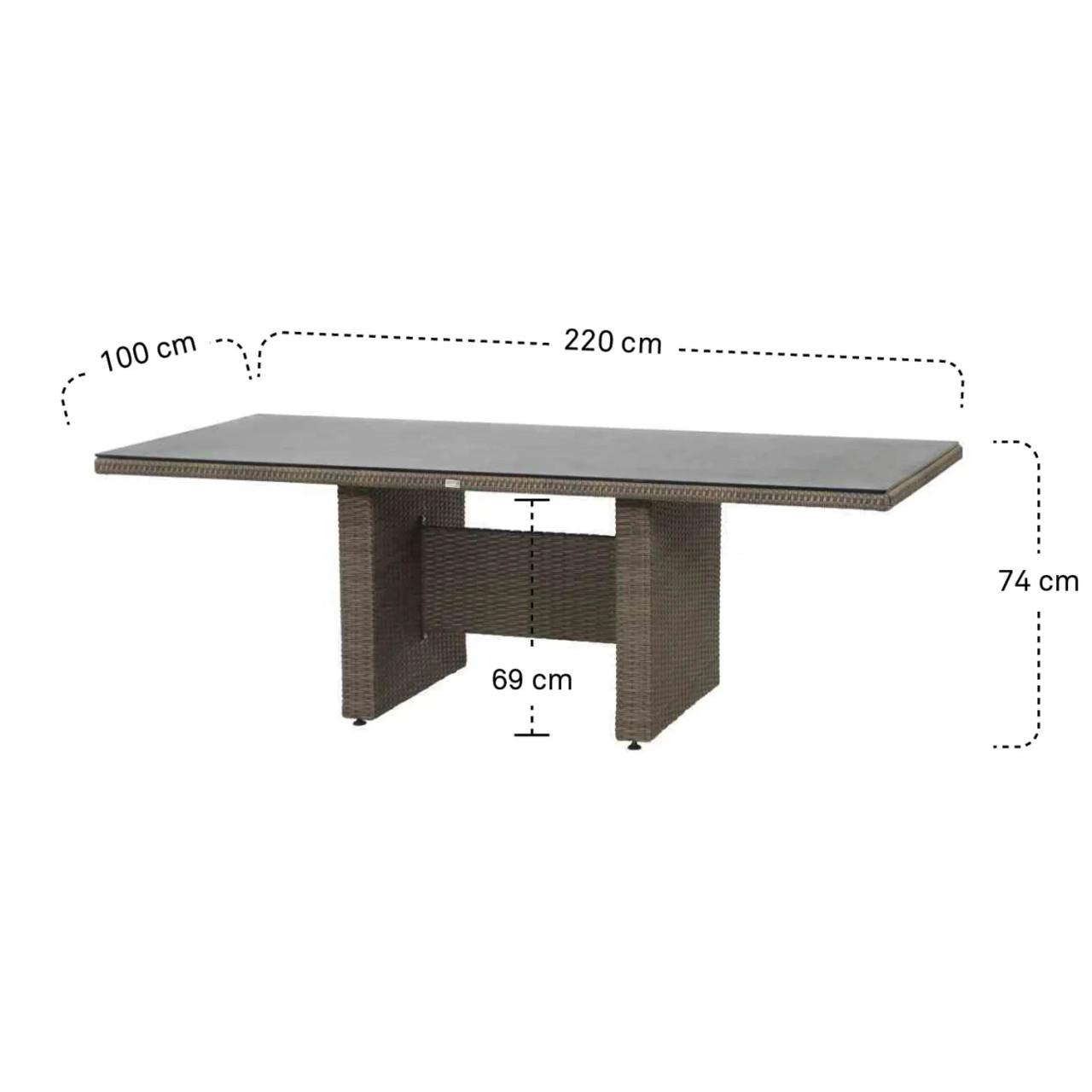 Teramo Tisch 220 x 100 cm, bronze