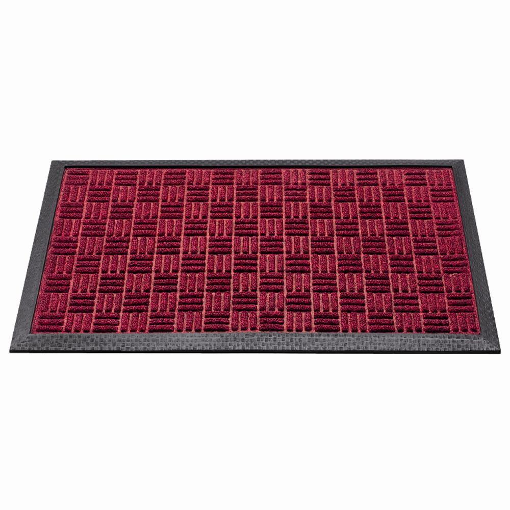 Außenmatte Quadro 45 x 75 cm rot