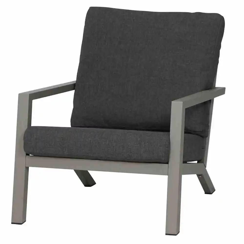 Belia Lounge Sessel matt silber